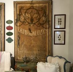 Wonderful Old French Advertising Sign On Sale  Circa 1920  Was $4200 Sale Price $3200  Dealer #710  Lost. . .Antiques 1201 N. Riverfront Blvd. Dallas, TX 75207  Monday - Saturday: 10am -