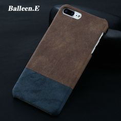 Balleen.E Luxury Retro Stitching Color Hard PC Case For iPhone 7 Phone Cover Full Back  Fundas Cases Capa For iPhone7 6 6s Plus