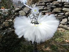 Items similar to Daisy Princess Tutu with Matching Hairband on Etsy Daisy Headband, Ballerina Costume, Princess Tutu, White Tulle, Swan Lake, All The Way, Daisies, Hand Sewn, Compliments