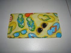 Flip Flop and Sunglasses Fabric Checkbook by DesignsbyTerriLee