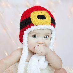 Crochet patrones sombrero de Santa Navidad descarga