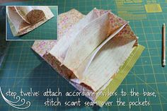 accordion-style wallet - sewing tutorial