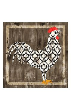 Free shipping and returns on Green Leaf Art 'Rooster' Wall Art at Nordstrom.com. A whimsical rooster lends retro country charm to a stretched-canvas giclée print.