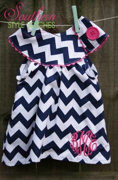 Personalized Chevron Top, dress, chevron. $38.00, via Etsy.