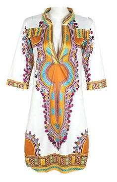 Dh Apple Women Bohemian V Neck Vintage Printed Ethnic Design Summer months Change Gown