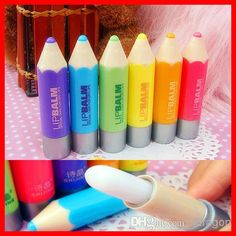 Wholesale Lip Balm - Buy Crayon Moisturizing Lip Balm Super Lovely Colour Pen Gift Present for Kids Gitf High Quality, $0.52 | DHgate