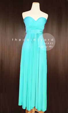 MAXI+Turquoise+Bridesmaid+Convertible+Dress+by+thedaintyard,+$48.00