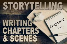 Storytelling: Writing Chapters and Scenes - - Tips for structuring chapters and scenes for storytellers. Writing Genres, Fiction Writing, Writing Advice, Writing Resources, Writing A Book, Writing Prompts, Writing Ideas, Writing Guide, Science Fiction