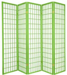 6 ft. Tall Window Pane - Special Edition, Lime, 5 Panel asian-cellular-shades
