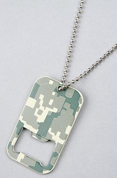 Rothco The Army Digital Camo Dog Tag Bottle Opener in Olive Camo, Save 20% off your order with Rep Code: PAMM6