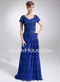 Mother of the Bride Dresses - $142.99 - A-Line/Princess V-neck Floor-Length Charmeuse Mother of the Bride Dresses With Lace (008006160) http://jenjenhouse.com/A-line-Princess-V-neck-Floor-length-Charmeuse-Mother-Of-The-Bride-Dresses-With-Lace-008006160-g6160