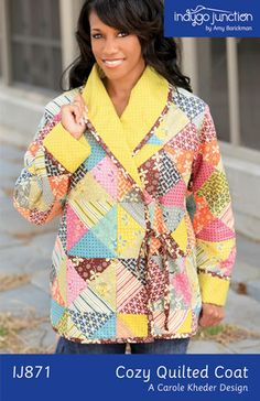 Cozy Quilted Coat – IJ871 sewing pattern from IndygoJunction.com $14.99