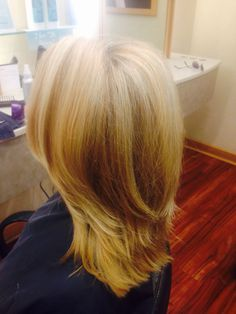 Hair makeover. Blonde hair and subtle layers