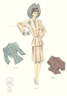 Tailleur Trade Fashion Plates