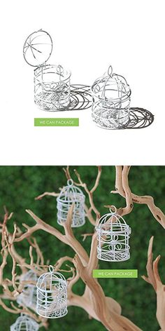We Can Package White Mini Small Bird Cage for Wedding Centerpiece Decoration