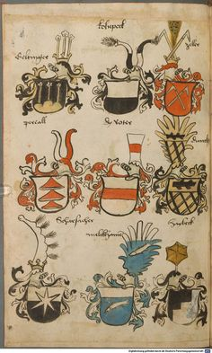 Wappen besonders von deutschen Geschlechtern Süddeutschland ?, 1475 - 1560 Cod.icon. 309  Folio 28v