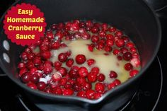 one bag of fresh cranberries, one cup of sugar, and one cup of orange juice