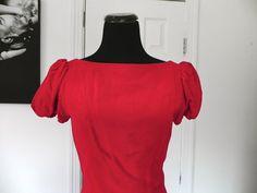 Vintage Red Velvet Dress Size Small by vintageworldrocks on Etsy, $32.00