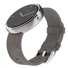 Motorola moto 360 Light Stainless Steel Case (22mm, Stone Grey Leather Band) | EXPANSYS商品番号: 265704