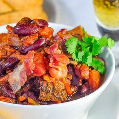 Prime Rib Beer Bacon Chili - a leftover luxury meal. A terrific use for leftover prime rib or beef roast to stretch it into another complete, flavourful meal. Leftover Prime Rib, Leftover Roast Beef, Leftover Turkey Recipes, Leftovers Recipes, Baby Food Recipes, Beef Recipes, Cooking Recipes, Rock Recipes, Game Recipes