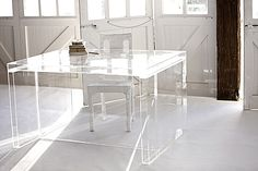 Acrylic Lucite Polycarbonate Desk - via Penny Farthing Designs (Sydney)