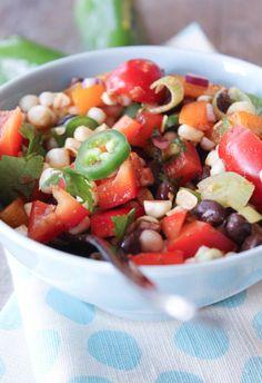 Black Bean Corn Salad or Salsa.  Vegan.  Gluten Free.