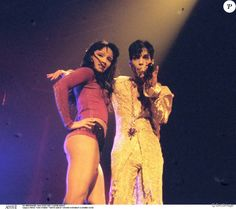 Mayte Garcia and Prince performing at Wembley Arena in London in 1995.