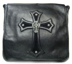 Valuable Chrome Hearts Crosswise Rivet Leather Bag Cm 526 New | Chrome Hearts Online Catalog