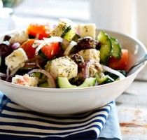 Can never go wrong with a Greek Salad!