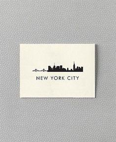 New York City Skyline cards from Hello! Lucky