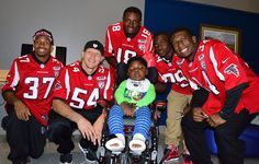 The Atlanta Falcons Rookie Club brought smiles to patients at the Children's Healthcare of Atlanta this week.  For more photos: http://www.atlantafalcons.com/media-lounge/photo-gallery/Rookie-Club-Visit-to-Childrens-Healthcare-of-Atlanta/c64a07d3-6856-4b6d-9536-63697d452c4f