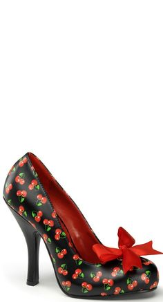 official photos af633 59a07 Pleaser Shoes Cutie Pie Pump in Cherry   Blame Betty Rockabilly Style,  Rockabilly Vintage,