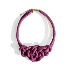 Rope Necklace - Purple