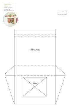 Free card box template/pattern (+many other free templates & printables) http://www.papercraftsmag.com/articles/350_Cards_Gifts_Patterns?bc=c