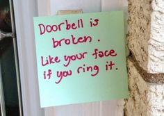 18 Hilarious Doorbell Notes from Moms Who Just Want to Be Left Alone... These moms WILL get their rest. Don't even try to stop them!