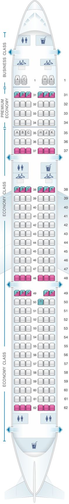 Seat Map China Southern Airlines Airbus A32N