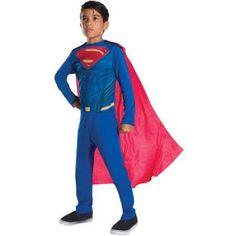 Superman Boys Jumpsuit Halloween Costume, Size: Large, Multicolor