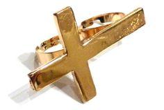 Gave Dubbele Ring Met Kruis  (te koop op www.lauzz.nl)