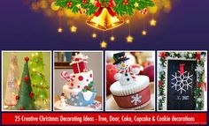 Christmas Decorations: Christmas is just around the corner and everyone will be busy collecting gifts, arranging food and planning decorations for t Christmas Themed Cake, Christmas Cupcakes Decoration, Christmas Cake Designs, Best Christmas Cookies, Christmas Cakes, Beautiful Christmas Trees, Diy Christmas Tree, Christmas Bulbs, Cookie Decorating