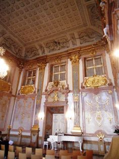 the marble room, salzburg, austria, the only way to see it  is to attend a concert.9-10.