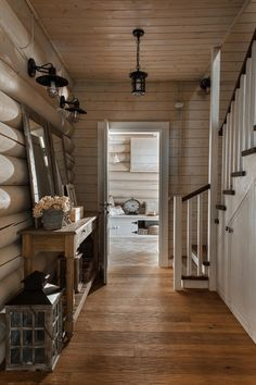 Log Cabin Hall and Stairway