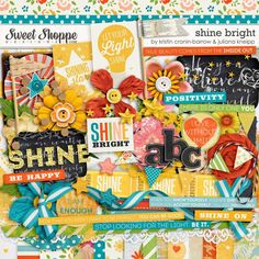 Digital Scrapbook Kit, Shine Bright by Kristin Cronin-Barrow & Juliana Kneipp at SweetShoppe Designs