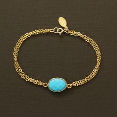 Bracelet turquoise et or par NinaKuna sur Etsy https://www.etsy.com/fr/listing/113190122/bracelet-turquoise-et-or