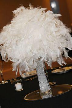 Sale White/ Malibu  feather centerpieces/ kissing balls vases and bouquets :  wedding black blue bouquet bridesmaids centerpieces ceremony clearance feather bouquets feathers flowers kissing ball malibu blue reception vases white White Pomander