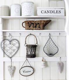 It's all about Hearts ♡ Kitchen Decor, Scandinavian Home, Decor, Provence Style, Shabby Style, Interior Decorating, Second Hand Furniture, Shabby White, Home Decor