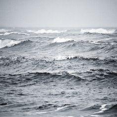 Blustery seas.