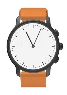 1) Metal watch case 2) CR2025 Batteries 3) Leather strap
