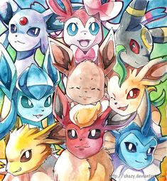 Eeveelutions by *shazy on deviantART