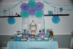 Little Mermaid Treats Table by Gwendolyn Calderon with MiaBellaCreationz