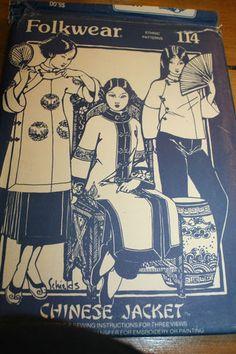 Folkwear Chinese Jacket 114 #FolkwearPattern #FolkwearChineseJacket #VintageSewing